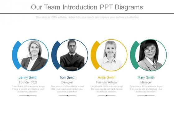Our Team Introduction Ppt Diagrams