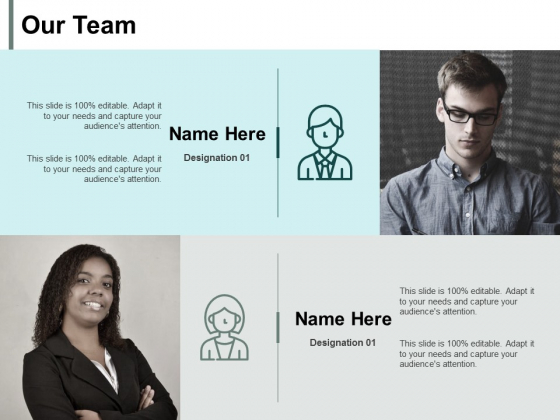 Our Team Introduction Ppt PowerPoint Presentation Icon Background