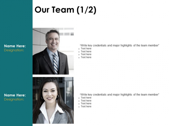 Our Team Introduction Ppt PowerPoint Presentation Infographics Examples
