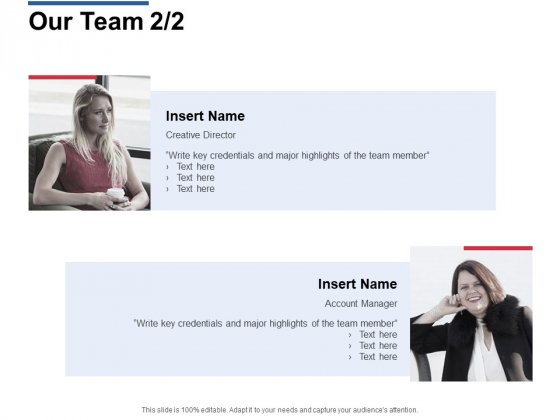 Our Team Introduction Ppt Powerpoint Presentation Model Slide Download