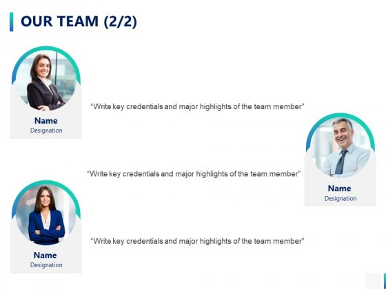 Our Team Introduction Ppt PowerPoint Presentation Outline Icon