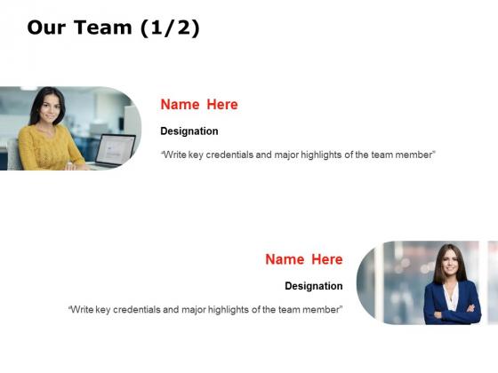 Our Team Introduction Ppt PowerPoint Presentation Portfolio Elements