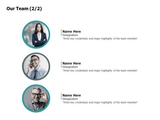 Our Team Introduction Ppt PowerPoint Presentation Portfolio Graphics Tutorials