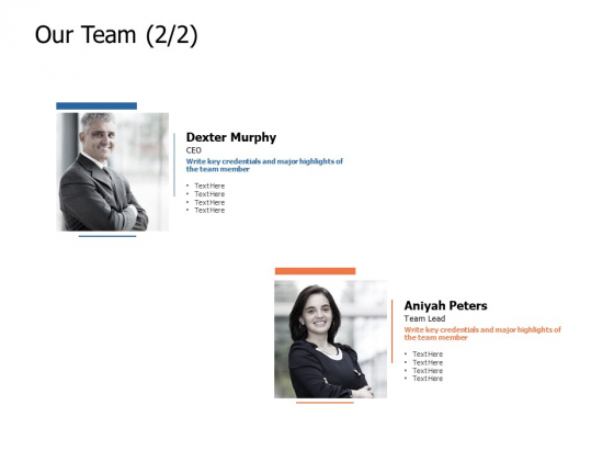Our Team Introduction Ppt Powerpoint Presentation Professional Example Topics