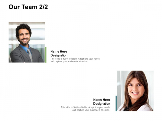 Our Team Introduction Ppt PowerPoint Presentation Slides Deck