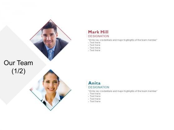Our Team Introduction Ppt PowerPoint Presentation Slides Portrait