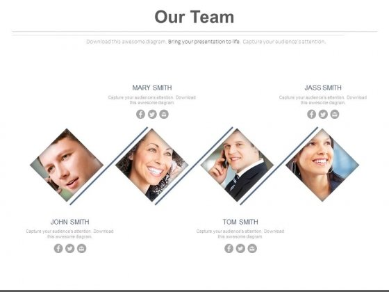Our Team Introduction With Profile Powerpoint Slides