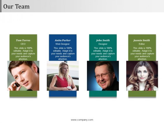 Our Team Ppt PowerPoint Presentation Ideas Maker