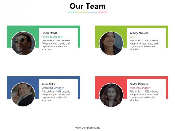 Our Team Ppt PowerPoint Presentation Inspiration Examples