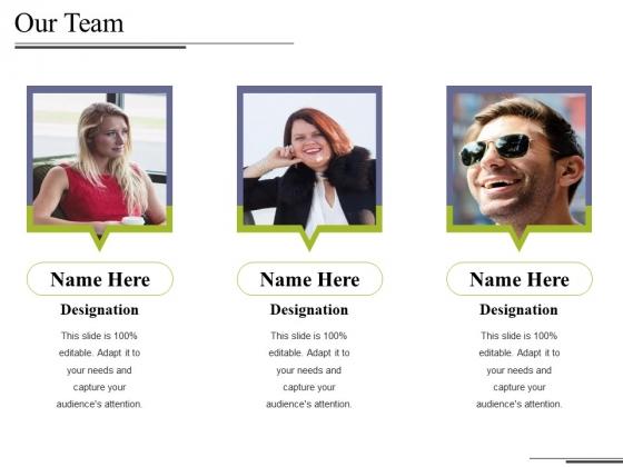Our Team Ppt PowerPoint Presentation Portfolio Graphics