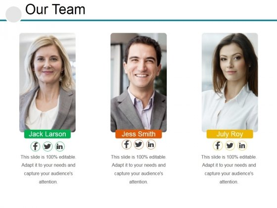Our Team Ppt PowerPoint Presentation Professional Topics