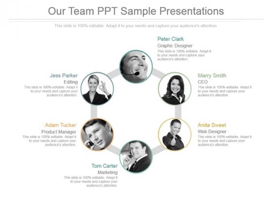 Our Team Ppt Sample Presentations