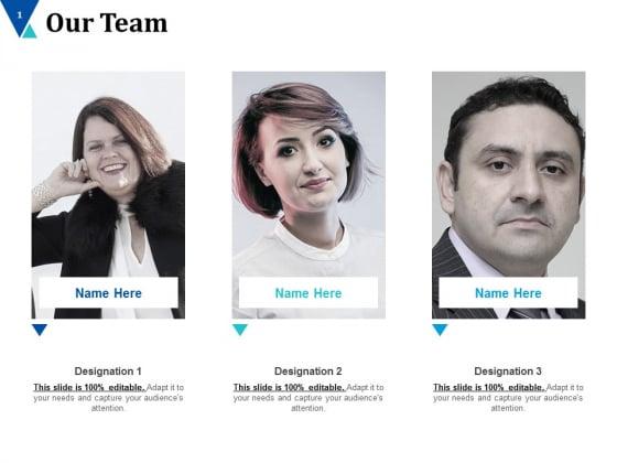 Our Team Team Work Ppt PowerPoint Presentation Ideas Portfolio
