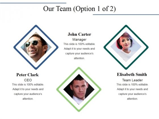 Our Team Template 1 Ppt PowerPoint Presentation Show Objects