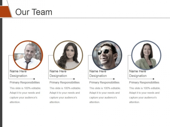 Our Team Template 1 Ppt PowerPoint Presentation Slides Format Ideas
