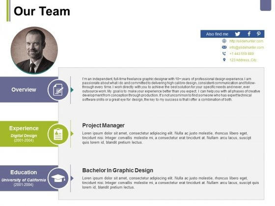 Our Team Template 1 Ppt PowerPoint Presentation Slides Format