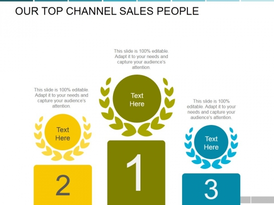 Our Top Channel Sales People Ppt PowerPoint Presentation Outline Samples