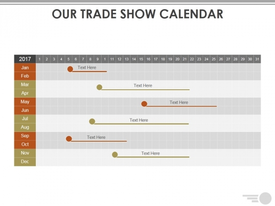 Our Trade Show Calendar Ppt PowerPoint Presentation Styles Tips