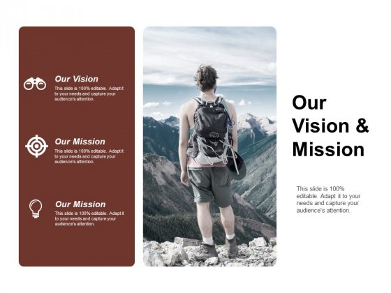 Our Vision And Mission Ppt Powerpoint Presentation Outline Deck
