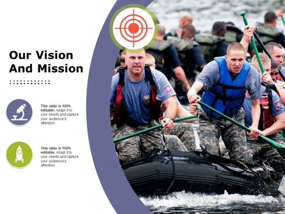 Our Vision And Mission Ppt PowerPoint Presentation Professional Structure