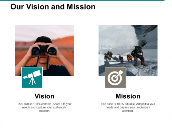 Our Vision And Mission Ppt PowerPoint Presentation Show Graphics Design