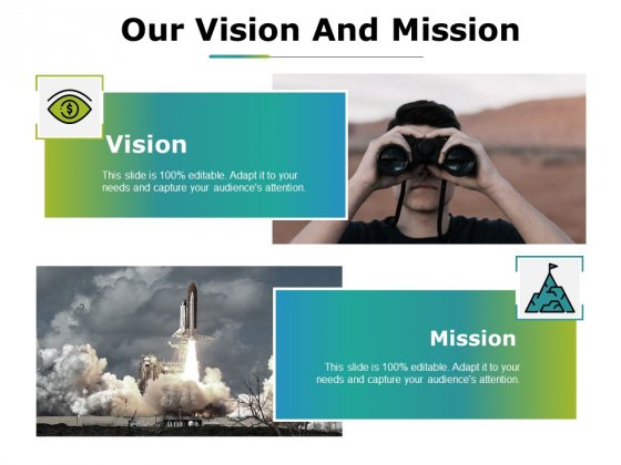 Our Vision And Mission Ppt PowerPoint Presentation Slides Grid