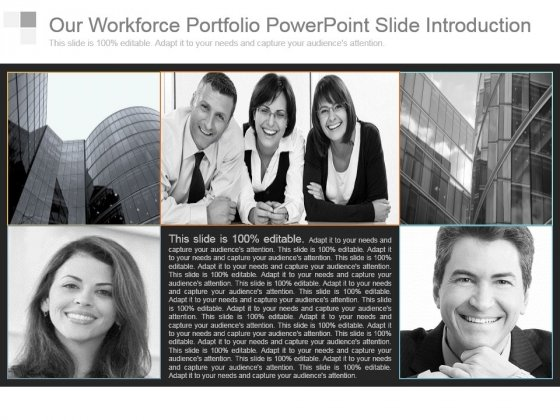 Our Workforce Portfolio Powerpoint Slide Introduction