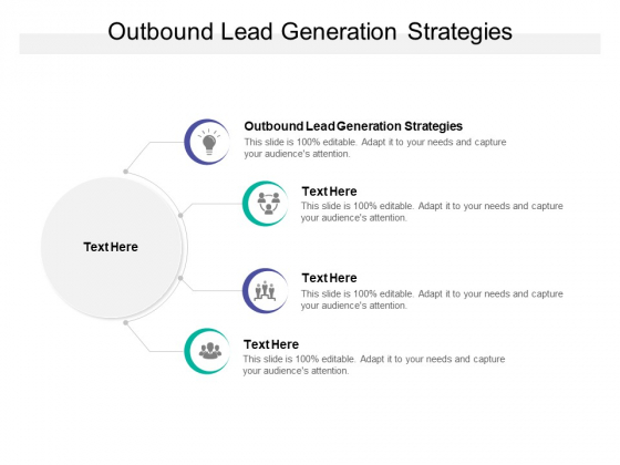 Outbound Lead Generation Strategies Ppt PowerPoint Presentation Pictures Shapes Cpb