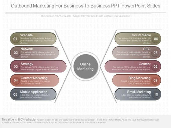 Outbound Marketing For Business To Business Ppt Powerpoint Slides