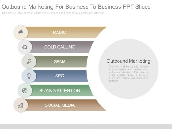 Outbound Marketing For Business To Business Ppt Slides