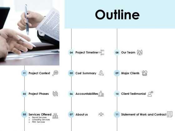 Outline Accountabilities Ppt PowerPoint Presentation Deck