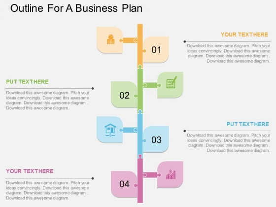 Outline For A Business Plan Powerpoint Template