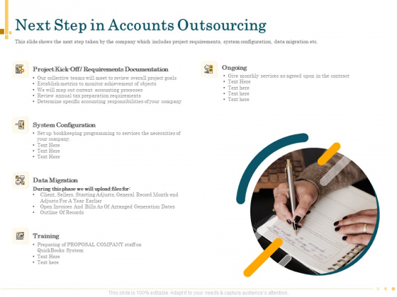 Outsource Bookkeeping Service Manage Financial Transactions Next Step In Accounts Outsourcing Brochure PDF