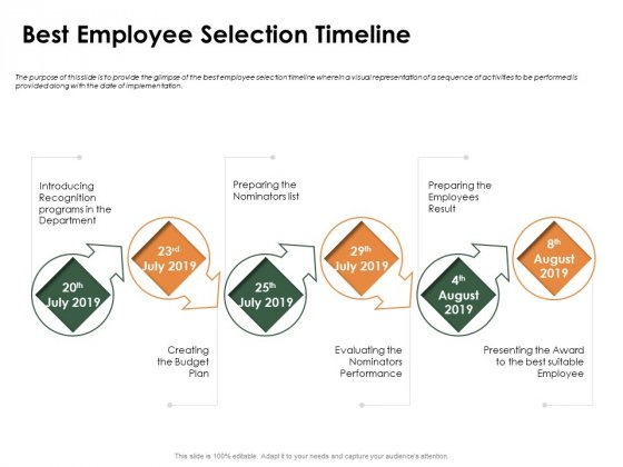 Outstanding Employee Best Employee Selection Timeline Ppt Inspiration Display PDF