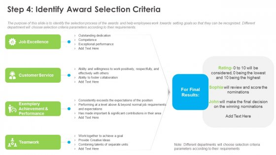 Outstanding Employee Step 4 Identify Award Selection Criteria Ppt Infographic Template Outline PDF