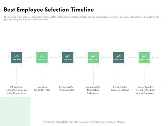 Outstanding Performer Workplace Best Employee Selection Timeline Ppt Pictures Inspiration PDF