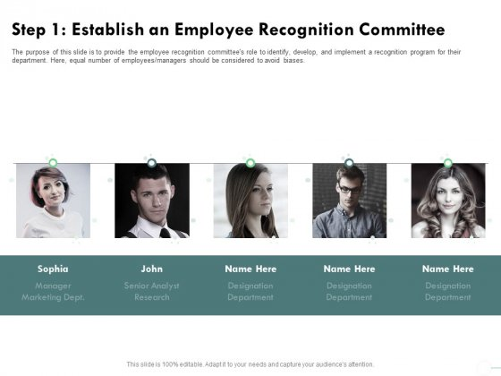 Outstanding Performer Workplace Step 1 Establish An Employee Recognition Committee Themes PDF
