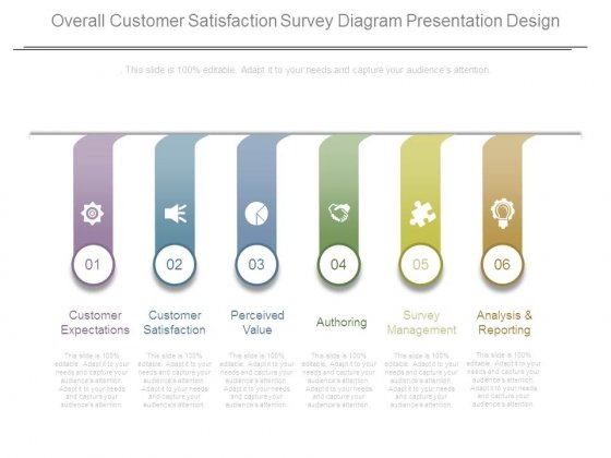 Overall Customer Satisfaction Survey Diagram Presentation Design