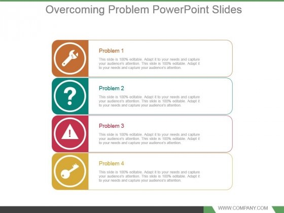Overcoming Problem Powerpoint Slides