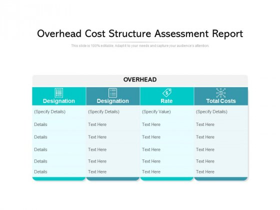 Overhead Cost Structure Assessment Report Ppt PowerPoint Presentation File Visuals PDF