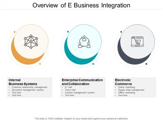 Overview Of E Business Integration Ppt PowerPoint Presentation Ideas Inspiration