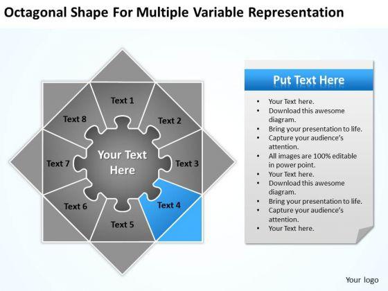 Octagonal Shape For Multiple Variable Representation Ppt Business Plan Form PowerPoint Slides
