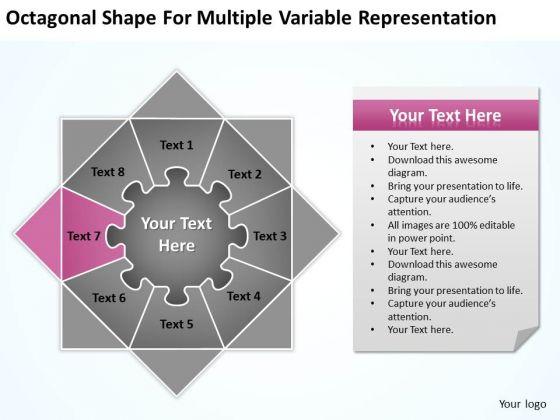 Octagonal Shape For Multiple Variable Representation Ppt Business Plan Service PowerPoint Slides