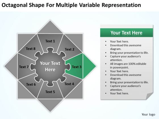 Octagonal Shape For Multiple Variable Representation Ppt How To Business Plans PowerPoint Slides