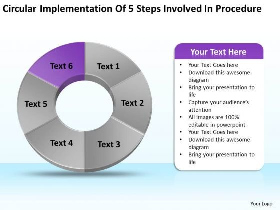 Of Steps Involved Procedure Ppt Basic Business Plan Template - Easy business plan template