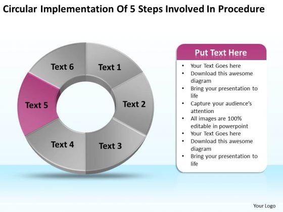 Of 5 Steps Involved Procedure Ppt How To Form A Business Plan
