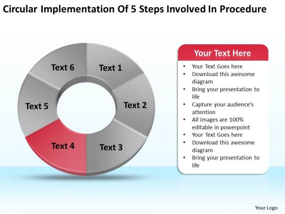 Of 5 Steps Involved Procedure Sample Business Proposal PowerPoint Templates