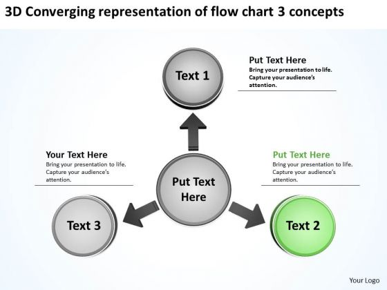 Of Flow Chart 3 Concepts Ppt Relative Circular Arrow Diagram PowerPoint Slides