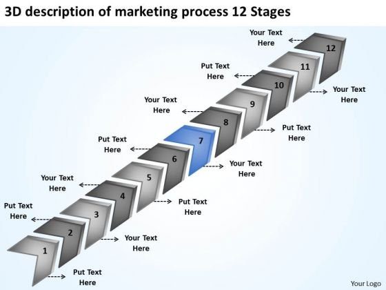 Of Marketing Process 12 Stages Business Plan Template PowerPoint Slides