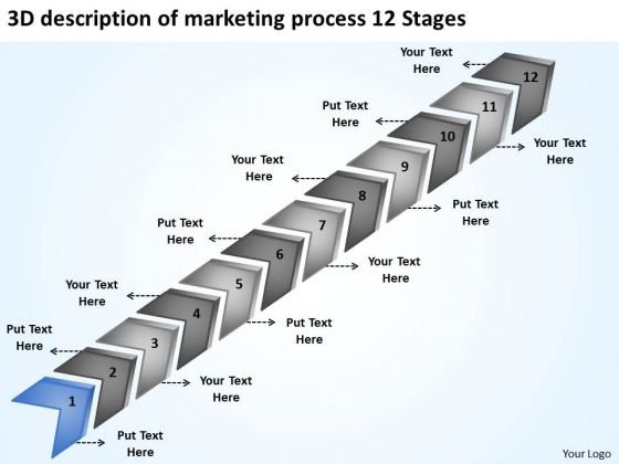 Of Marketing Process 12 Stages Ppt Personal Business Plan Template PowerPoint Templates
